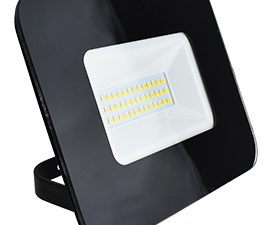 Ecola Projector  LED  30,0W 220V 2800K IP65 Светодиодный Прожектор тонкий Черный 154x124x40