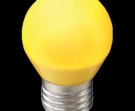 Ecola globe   LED color  5,0W G45 220V E27 Yellow шар Желтый матовая колба 77×45