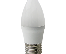 Ecola candle   LED Premium 10,0W 220V E27 2700K свеча (композит) 100×37