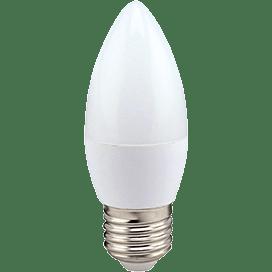 Ecola candle   LED  8,0W 220V E27 4000K свеча (композит) 100×37