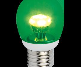 Ecola globe   LED color 3.0W G45 220V E27 Green Зеленый прозрачный шар искристая пирамида 84×45