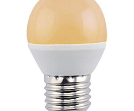 Ecola globe   LED Premium  8,0W G45  220V E27 золотистый шар (композит) 75×45