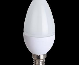 Ecola candle   LED  8,0W 220V E14 6000K свеча (композит) 100×37