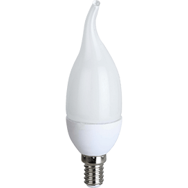 Ecola candle   LED  8,0W 220V E14 4000K свеча на ветру (композит) 129×37
