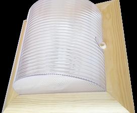 Ecola GX53 LED НББ-04-60-012 светильник Квадрат накладной IP65 дерево Клен 2*GX53  245х245х110