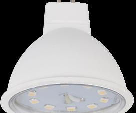 Ecola Light MR16   LED  5,0W 220V GU5.3 4200K прозрачное стекло (композит) 48×50