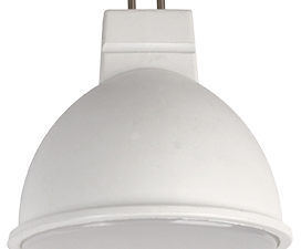 Ecola Light MR16   LED  5,0W 220V GU5.3 6500K матовое стекло (композит) 48×50