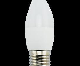 Ecola candle   LED Premium  9,0W 220V E27 2700K свеча (композит) 100×37