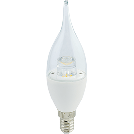 Ecola candle   LED Premium  7.0W220V E14 2700K прозрачная свеча на ветру с линзой (композит)126х37