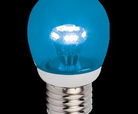 Ecola globe   LED color 3.0W G45 220V E27 Blue Синий прозрачный шар искристая пирамида 84×45