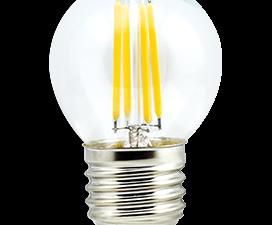 Ecola globe   LED  5,0W G45 220V E27 4000K 360° filament прозр. нитевидный шар (Ra 80, 100 Lm/W) 68х