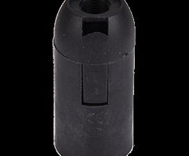Ecola base Патрон  подвесной E14 Черный (1 из ч/б уп. по 10)
