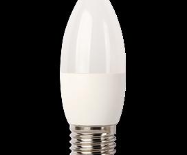Ecola Light candle   LED  7,0W 220V E27 4000K свеча (композит) 103×37