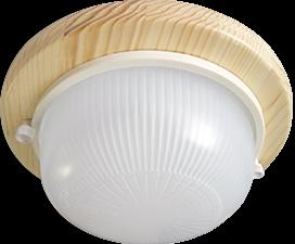 Ecola GX53 LED НБО-03-60-011 светильник Круг накладной IP65 дерево Клен 1*GX53 матовый 220х84