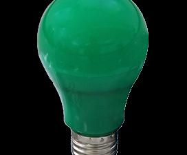 Ecola classic   LED color 12,0W A60 220V E27 Green Зеленая 360° (композит) 110×60