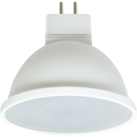 Ecola Light MR16   LED  7,0W  220V GU5.3 4200K матовое стекло (композит) 48×50 (1 из ч/б уп. по 4)