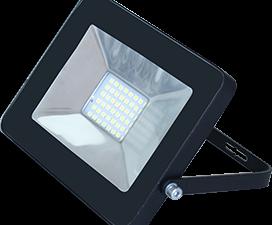 Ecola Projector  LED  30,0W 220V 4200K IP65 Светодиодный Прожектор тонкий Черный 188x132x17