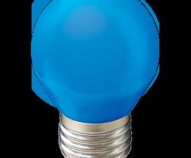 Ecola globe   LED color  5,0W G45 220V E27 Blue шар Синий матовая колба 77×45