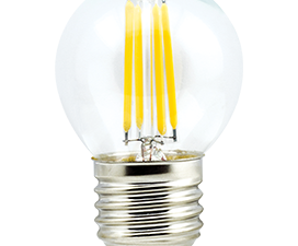 Ecola globe   LED Premium  5,0W G45 220V E27 4000K 360° filament прозр. нитевидный шар (Ra 80, 100 L