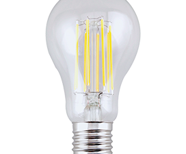 Ecola classic   LED Premium 13,0W A65 220-240V E27 2700K 360° filament прозр. нитевидная (Ra 80, 100