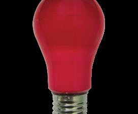 Ecola classic   LED color  8.0W A55 220V E27 Red Красная 360° (композит) 108×55