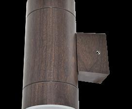 Ecola GX53 LED 8013A светильник накладной IP65 прозрачный Цилиндр металл. 2*GX53 Темное дерево 205×1