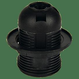 Ecola base Патрон  с кольцом E27 Черный