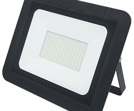 Ecola Projector  LED 100,0W 220V 6000K IP65 Светодиодный Прожектор тонкий Черный 290x230x32