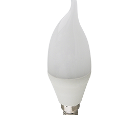 Ecola candle   LED Premium 10,0W 220V E14 4000K свеча на ветру (композит) 129×37