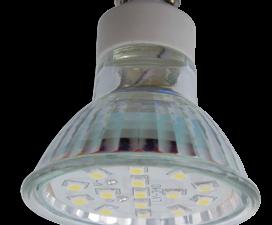 Ecola Light Reflector GU10  LED  3W 220V GU10 4200K прозрачное стекло 53×50