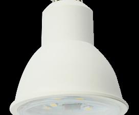 Ecola Reflector GU10  LED  8,0W  220V 2800K прозрачное стекло (композит) 57×50