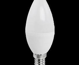 Ecola candle   LED Premium  9,0W 220V E14 6000K свеча (композит) 100×37