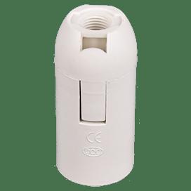 Ecola base Патрон  подвесной E14 Белый (1 из ч/б уп. по 10)