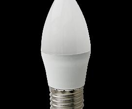 Ecola candle   LED Premium 10,0W 220V E27 6000K свеча (композит) 100×37