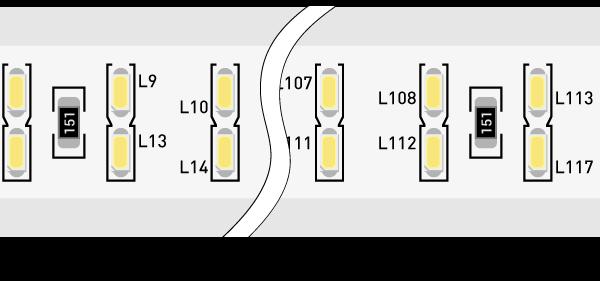Лента светодиодная 220, SMD3014, 240LED/м, кат 50м, 20 Вт/м, IP68, Холодный белый (6000-6500К Холодный белыйK)