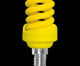 Ecola Spiral Color 12W 220V E14 Yellow Желтый 95×43