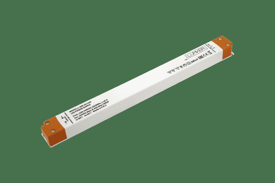 Блок питания для светодиодной ленты LUX сверхтонкий, 24В, 200Вт, IP20