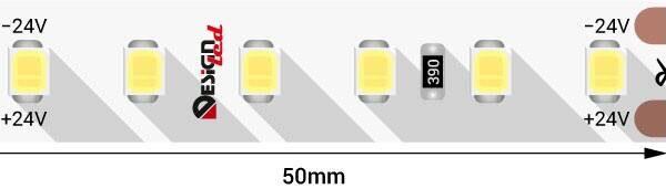 Лента светодиодная LUX, 2835, 120 LED/м, 14,4 Вт/м, 24В, IP33, Теплый белый (2700K)