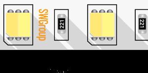 Лента светодиодная 5050, 60 LED/м, 14,4 Вт/м, 24В , IP20, Цвет: Теплый белый + холодный белый