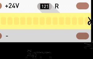Лента светодиодная LUX, FOB, 640 LED/м, 14 Вт/м, 24В, IP33, Нейтральный белый (4000K)