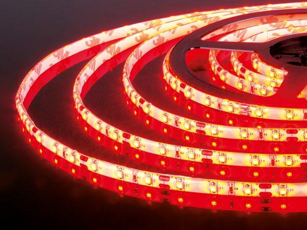 Лента светодиодная одноцветная 60Led 4,8W IP65 красный (2835 12V 60Led 4,8W IP65)