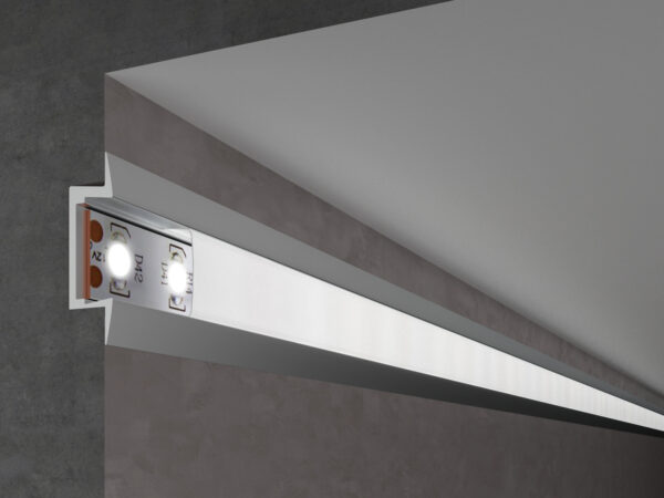 LL-2-ALP007 /  Встраиваемый алюминиевый профиль для LED ленты (под ленту до 11mm)