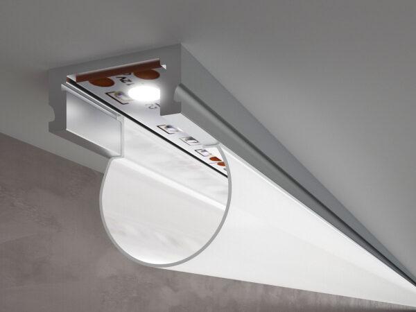LL-2-ALP010 /  Накладной алюминиевый профиль для LED ленты (под ленту до 10mm)