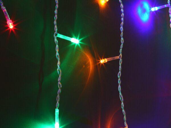 100-001 / гирлянда бытовая электрическая бахрома / мульти