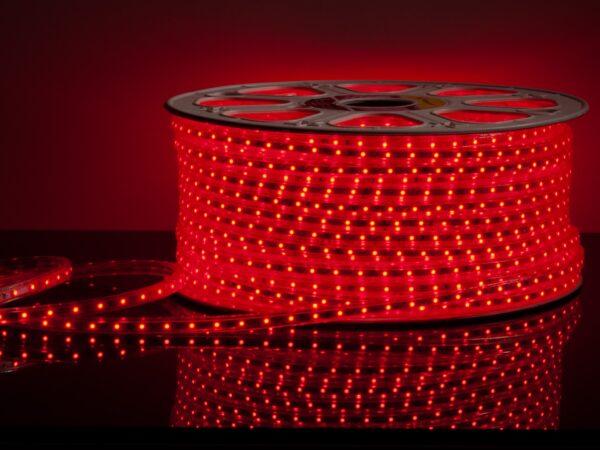 LS004 220V / Лента светодиодная 220V 4,8W 60Led 2835 IP65 красный, 50 м