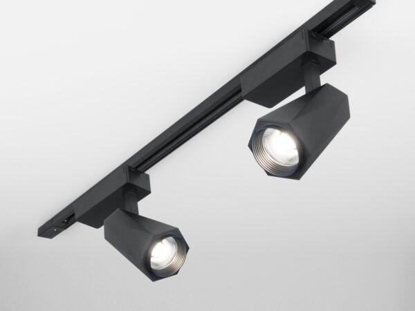 LTB46 / Светильник потолочный светодиодный Magnum черный матовый 20W 4200K