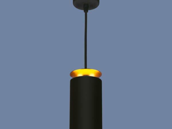 DLS021 9+4W 4200К / Светильник светодиодный стационарный черный матовый/золото