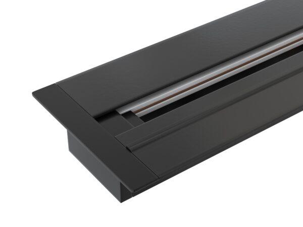 TRLM-1-100-BK / Шинопровод электрический  для светильников Встраиваемый однофазный шинопровод черный (1м.)