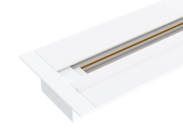TRLM-1-100-WH / Шинопровод электрический  для светильников Встраиваемый однофазный шинопровод белый (1м.)