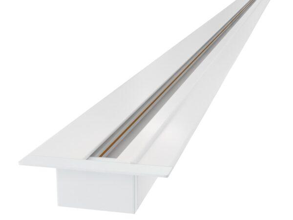 TRLM-1-200-WH / Шинопровод электрический  для светильников Встраиваемый однофазный шинопровод белый (2м.)